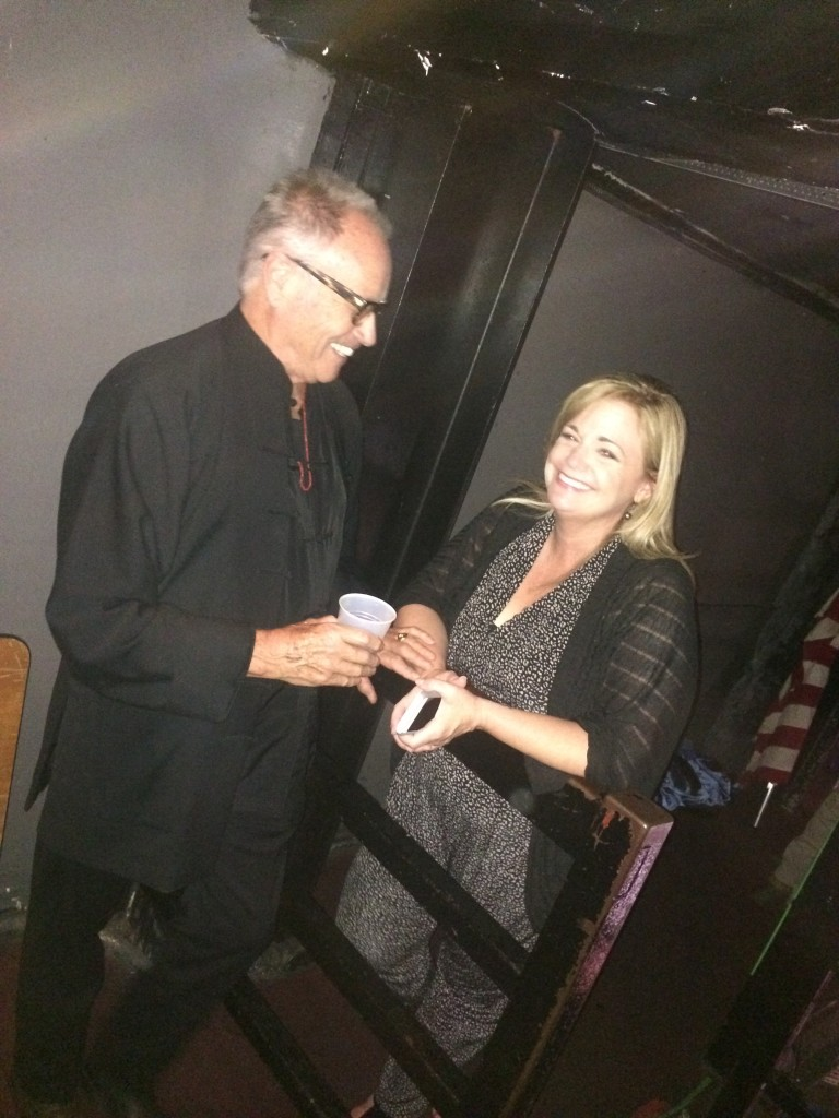Alan Roderick-Jones (Producer/Director/Artist) and Heather Rawlings (City of Murrieta) supporting Joanna