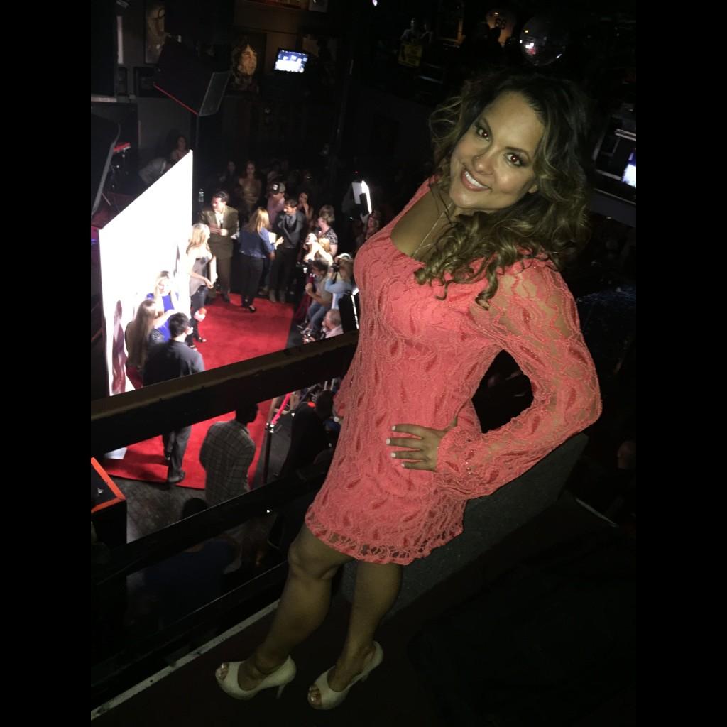 Joanna on inside balcony of Whisky-A-Go-Go